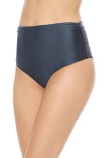 Calcinha Cia.Maritima Hot Pant Lisa Azul-Marinho - Azul Marinho - Feminino - Poliamida - Dafiti