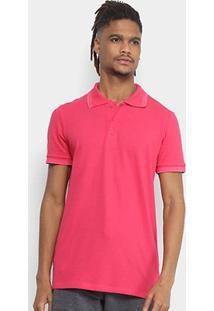 Camisa Polo Kohmar Piquet Elastano Friso Masculina - Masculino-Pink