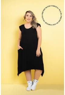 Vestido New Comfy Black Plus Size