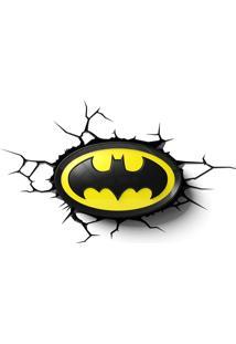 Luminária 3D Light Fx Dc Comics Logo Batman