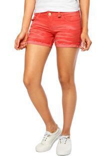 Short Jeans Miss Moon Santa Monica Coral
