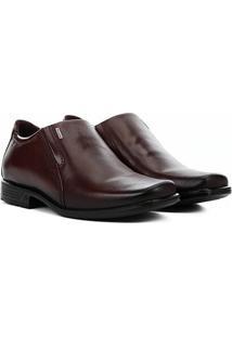 Sapato Social Couro Pegada Bico Quadrado - Masculino-Bege