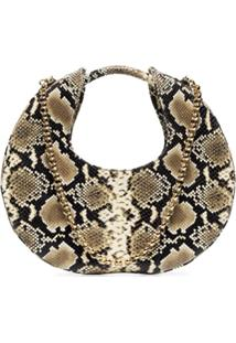 By Far Lune Python-Effect Leather Bag - Preto