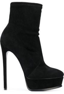 Casadei Ankle Boot Com Plataforma - Preto