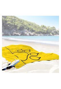 Toalha De Praia / Banho Pet Love Único