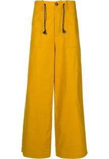 Marni Drawstring Wide-Leg Trousers - Amarelo