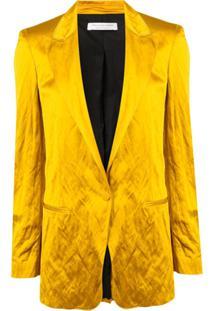 Philosophy Di Lorenzo Serafini Satin Button Blazer - Amarelo