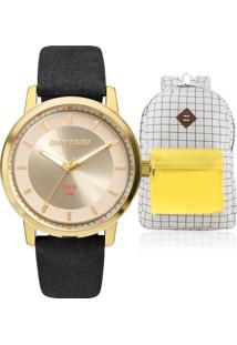 aa89b26d3bf E Clock. Kit Relógio Feminino Mormaii ...