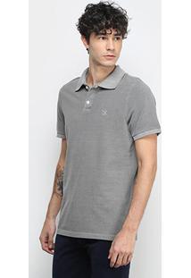 Camisa Polo Derek Ho Tinturada Piquet Básica Masculina - Masculino-Cinza