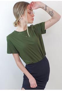 T-Shirt Feminina Maria Verde Musgo