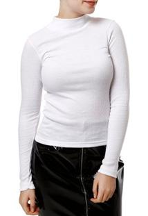 Blusa Manga Longa Feminina Branco