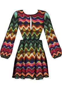 Vestido Estampado Aberto Costas Aquarela Africana - Lez A Lez