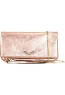Zadig&Voltaire Rock Crush Clutch Bag - Rosa