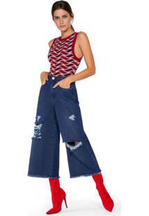 Calça Jeans Wide Rasgos Ecológica