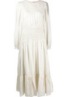 Tory Burch Vestido Com Recorte Elástico - Branco