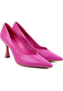 Scarpin Couro Loucos & Santos Salto Alto - Feminino-Pink