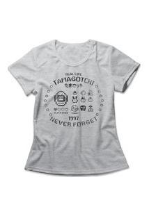 Camiseta Feminina Tamagotchi Cinza