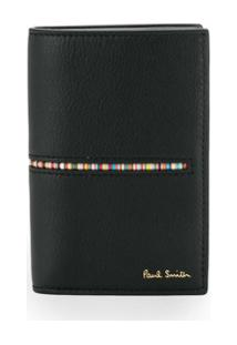 Paul Smith Carteira Signature Com Listras - Preto