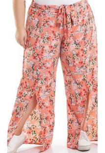 Calça Miss Masy Plus Size Pantalona - Feminino-Laranja