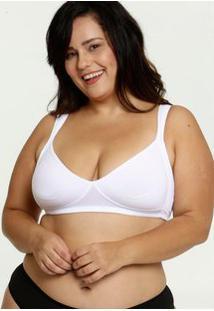 Sutiã Feminino Com Base Sem Bojo Plus Size Dilady