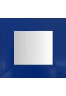 Espelho Moldura Madeira Lisa Raso 16191 Azul Art Shop