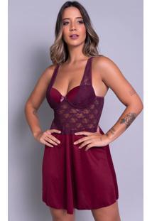 Camisola Bella Fiore Modas Com Bojo Em Tecido Canelado Vinho