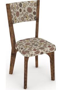 Cadeira Ca22 Tecido Chenille Floral Colorido