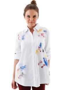 Camisa Com Tie Dye Branco