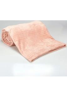 Cobertor Queen 2,20X2,40M Canelado Rose