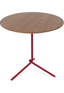 Mesa Lateral Flip Tabaco 50X53Cm - Unissex