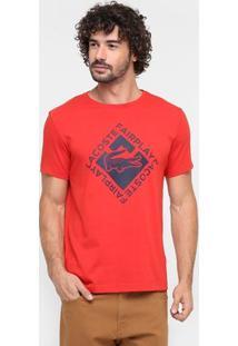 Camiseta Lacoste Gola Careca-Th2376-21 - Masculino-Vermelho