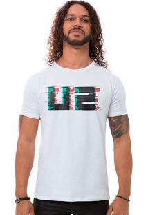 Camiseta Masculina U2 Fuzz Branco B