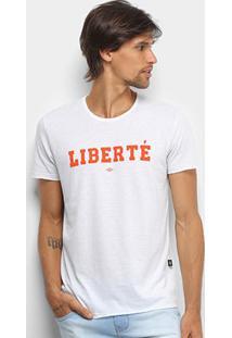 Camiseta Triton Liberté Masculina - Masculino-Branco
