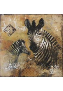 Quadro Kasa Ideia Canvas Zebra 60Cm