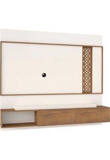 """Painel Para Tv De Até 50"""" Londres– Artely - Off White / Pinho"""