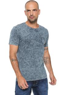 Camiseta Yachtsman Com Bolso Azul