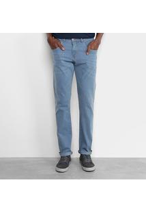Calça Jeans Slim Zamany Masculina - Masculino-Azul Claro