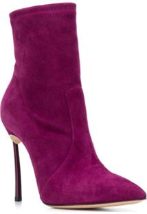 Casadei Blade Ankle Boots - Roxo