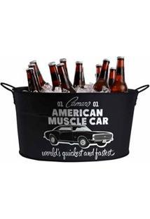 Balde De Gelo De Metal American Muscle Car Carro Gm Chevrolet