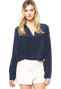Camisa Canal Reta Azul