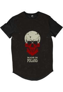 + info Camiseta Longline Bsc Caveira País Polônia Sublimada Preto e0ad501ac282c