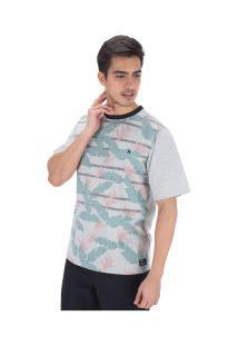 Camiseta Hurley Especial Flower - Masculina - Branco/Verde