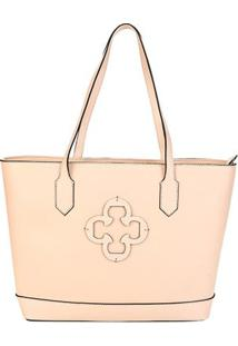 Bolsa Couro Capodarte Shopper Naturale Feminina - Feminino-Bege