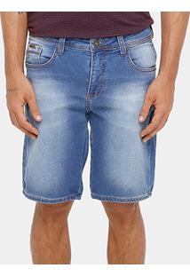 Bermuda Jeans Triton Indigo Masculina - Masculino