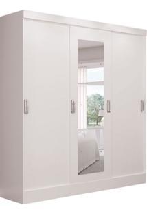 Guarda-Roupa Casal Com Espelho Berlin 3 Pt 3 Gv Branco