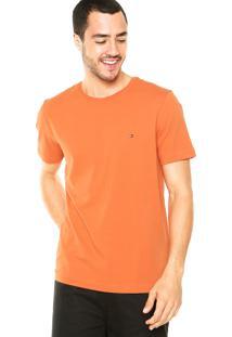 Camiseta Tommy Hilfiger Redonda Laranja
