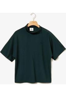 Camiseta Polo Lacoste Live Feminina - Feminino-Verde