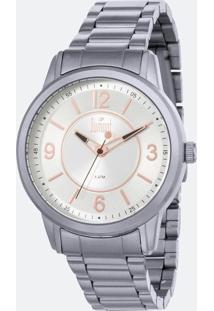Kit Relógio Feminino Dumont Du2035Mnw K4K 5Atm + Conjunto Semijóia