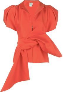 Rosie Assoulin Blusa Com Mangas Bufantes - Vermelho