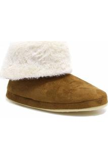 Pantufa Bota Ricsen Montana Snow - Feminino-Marrom
